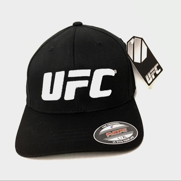 a174e647f41 UFC Logo Black Fitted Hat